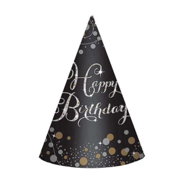 Happy Birthday Paper Cone Hats (8)